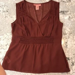 Beautiful sheer top with camisole